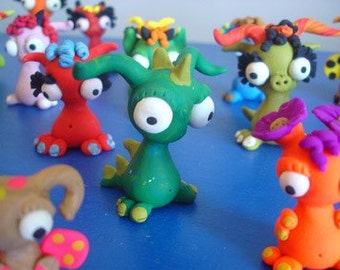 Magnetic Puzzle Freak Doody Heads Photo Alien Polymer Clay Creatures