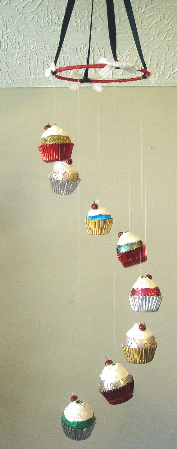 Cupcake Kitchen Decorations Sale 50 Off Cupcake Ornament Mobile Nursery Childrens
