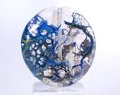 Blue Web - lampwork focal bead