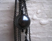 Tahitian Pearl on Oxidized Sterling