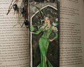 Emerald Gothic Fairy Bookmark