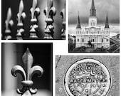 Photograph Print - New Orleans NOLA 4-Pack - french quarter water meter fleur de lis st louis cathedral mardi gras big easy watermeter