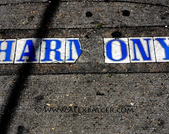 Fine Art Photography Print - Blue Tile Harmony Street Sign, New Orleans, www.alexbalcer.com