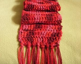 Crochet Scarf with Tassels Vegan