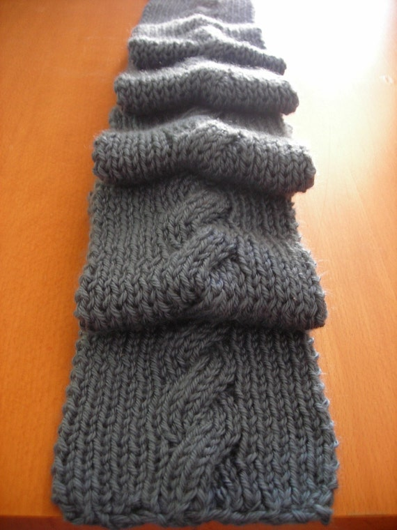 Knit Cable Scarf Vegan