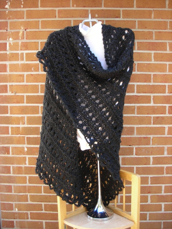Knit Shawl Triangle Style Vegan