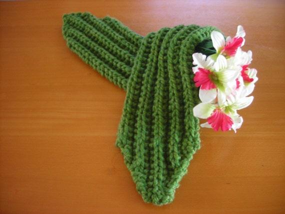 Knit Wool-Blend Scarf Mini Bulky Rib