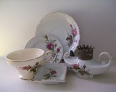 Romantic MOSS ROSE China - 5 pc Porcelain Collection - Made in Japan