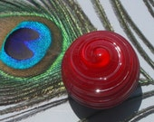 Sangria Red Cabinet Knob\/Drawer Pull