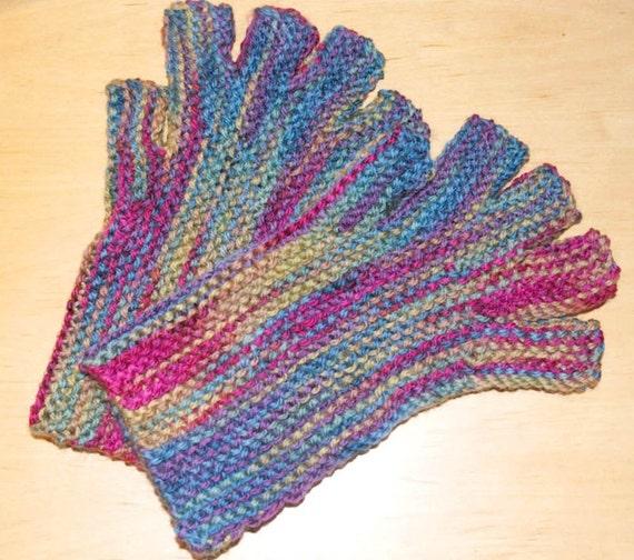 Easy Knit Mittens Pattern : Knitting pattern fingerless Gloves Easy to knit by CarlaLovato