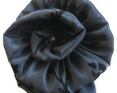 Black Navy Brooch with black pearl