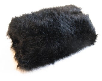 Dark Brown Faux Fur Muff