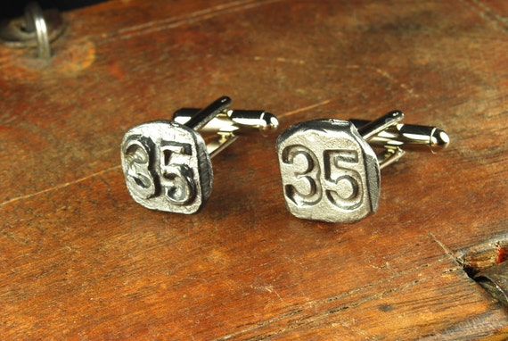 Steampunk Cufflinks // Vintage Date Nails // 1935 // Cuff Links - Great for Wedding Gift - Fathers Day - Anniversaries