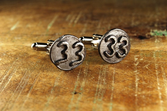 Steampunk Cufflinks Vintage Date Nails Accessories // 1933 // Mens Cuff Links - Wedding Fathers Day Anniversary Gift