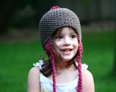 Custom Color Combination Knit Toddler Hat with Ear Flaps - The Toddler Oakdale Hat