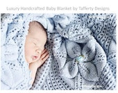 Water Lily - Stunning Luxury Handcrafted Vintage Leaf Pattern Baby Blanket - MADE TO ORDER - Choose Colour and Size