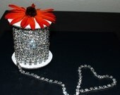 3 Feet/1 Yard SS28 6mm Rhinestone Chain Crystal Silver Plated Wedding Cake Bouquet Flower Jewelry or Costume Design RC023