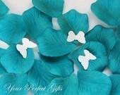 1000 pcs Teal Blue Silk Rose Petals Wedding Flower Favor Decoration RP012