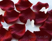 1000 pcs Burgundy Dark Red Silk Rose Petals Wedding Flower Favor Decoration RP008