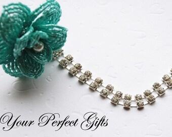 3 Feet/1 Yard Rhinestone Chain 2 Row Crystal Silver FREE Shipping USA Wedding Cake Decoration Bouquet Flower Jewelry RC024