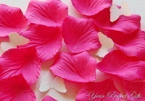 1000 pcs Fuchsia Hot Pink Silk Rose Petals Wedding Flower Favor Decoration RP013
