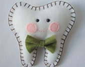 Tooth Fairy Pillow - Green Bow Tie Boy