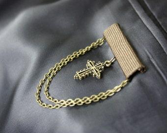 Memory Medal - Brown Bar with Cross