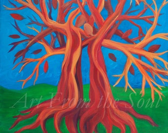 Intertwined- 20x20 original acrylic PAINTING PRINT on CANVAS-Many Sizes available
