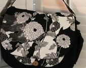 Black and White Diaper/ Messenger Bag