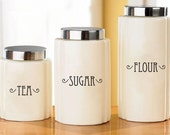 Custom Canister Labels - Vinyl Decal Stickers