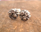 Circle Flower Bouquet Post Earrings Fine and Sterling Silvers