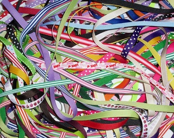 "20 yards 3/8"" Grosgrain Ribbon Mix 1 yard pieces"