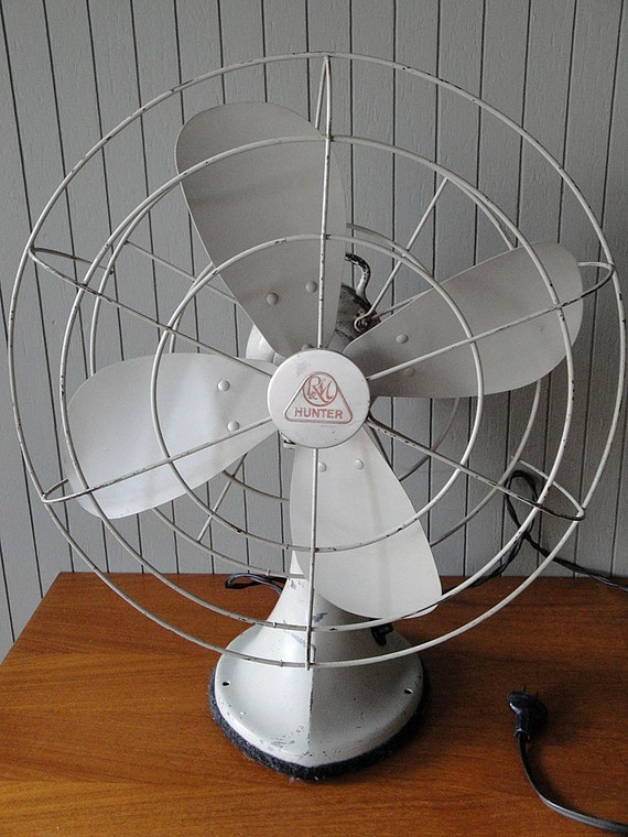 Vintage Oscillating Table Fan By The Hunter Division By