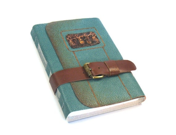 Teal Leather Journal - Hand Bound Notebook