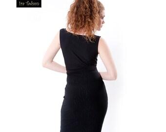 Sale 50%, Women Dress, LBD, Little black dress, Bodycon Dress, Jersey Dress, Office, Casual, Party, Formal, No sleeve, Deep collar dress