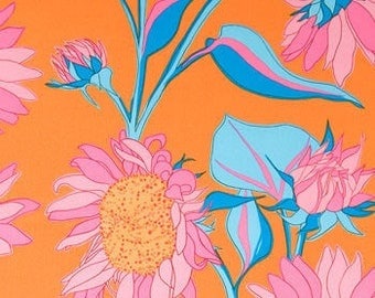 Free Spirit Valori Wells Sunflower Pink & Orange Fabric 1 Yard