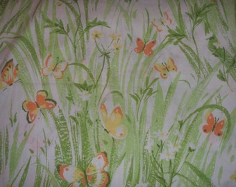 Beautiful Vintage Orange Butterflies STANDARD Pillowcases - Reclained Bed Linens