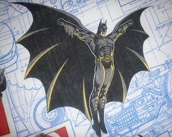 Batman Comic Book Full Flat  Sheet - Reclaimed Bed Linens