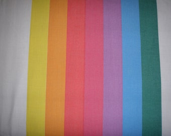 Rainbow Stripes Twin FITTED  Sheet - Reclaimed Bed Linens