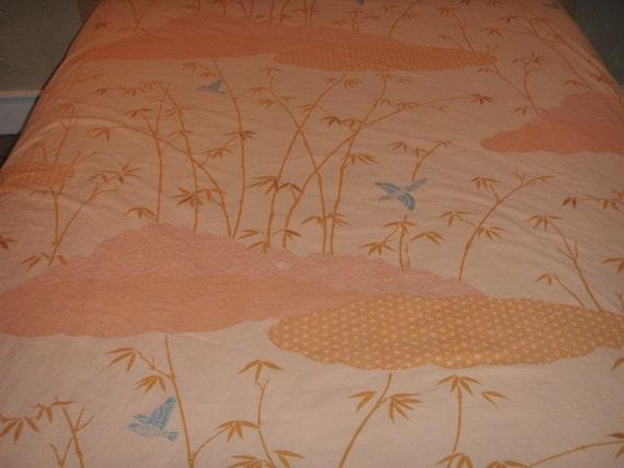 Hanae Mori TWIN FLAT Sheet - Reclaimed Bed Linens