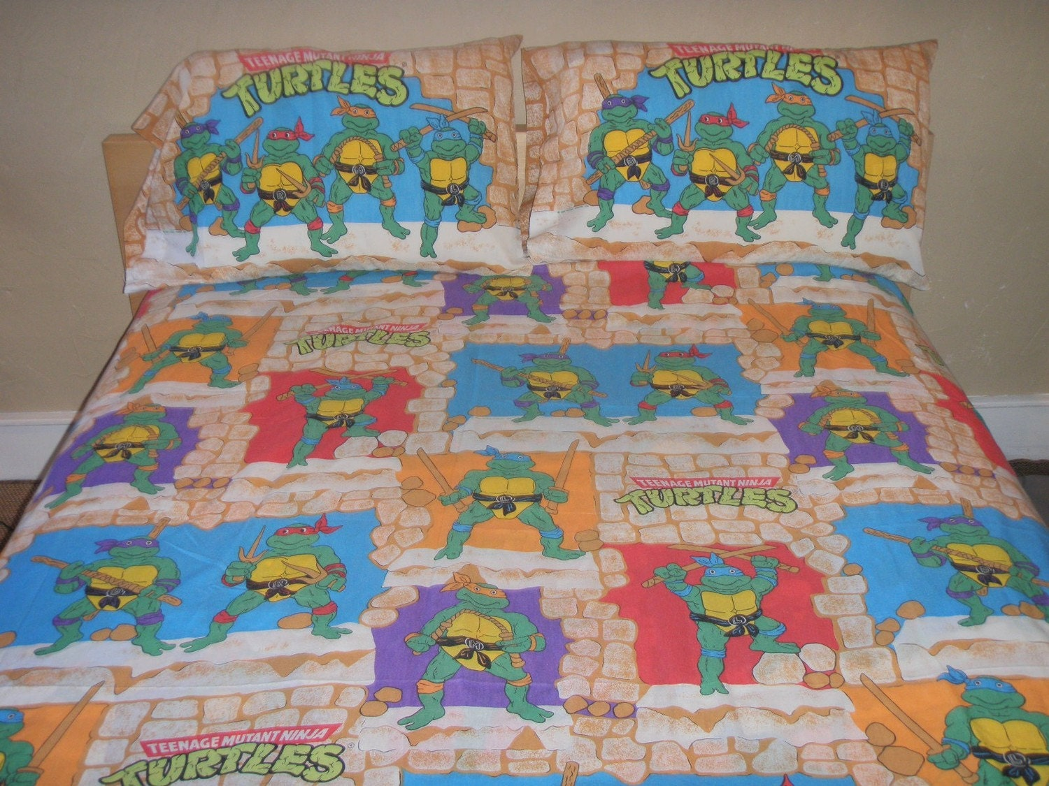 Teenage Mutant Ninja Turtles Full Sheet Set Reclaimed Bed