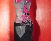 Black Crochet Skirt with Pocket