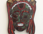 African Zaire Stained Glass Mask