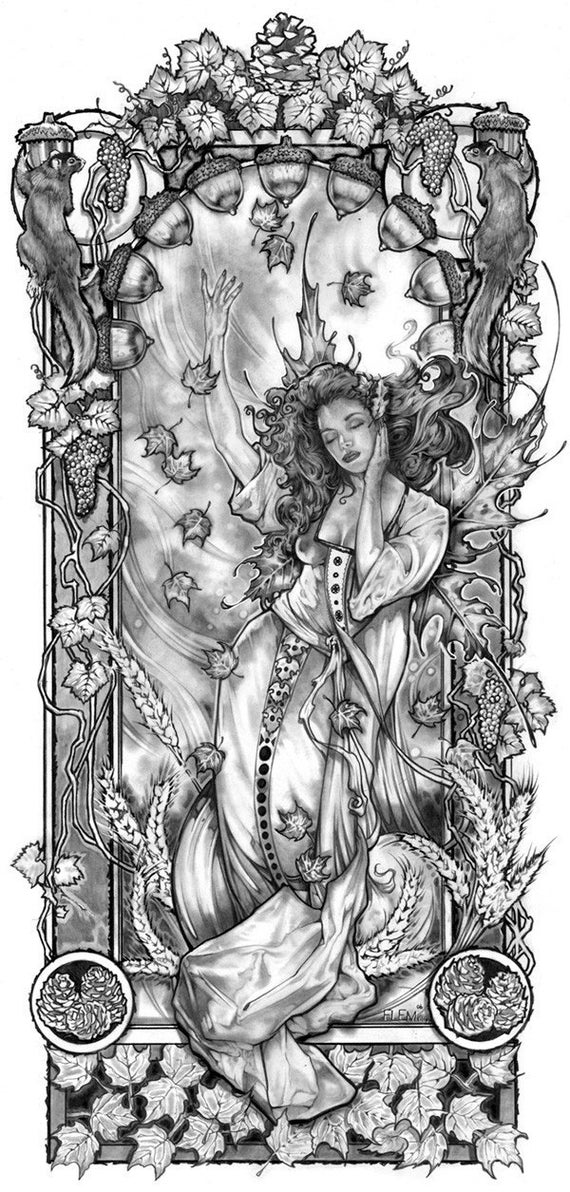 AUTUMN FAIRY FANTASY Art Print by FLEMINGEDITIONS on Etsy