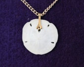 Vintage Genuine  Florida Sand Dollar Necklace ( item 19 )