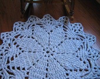 Rag Crochet Doily Rug Pattern