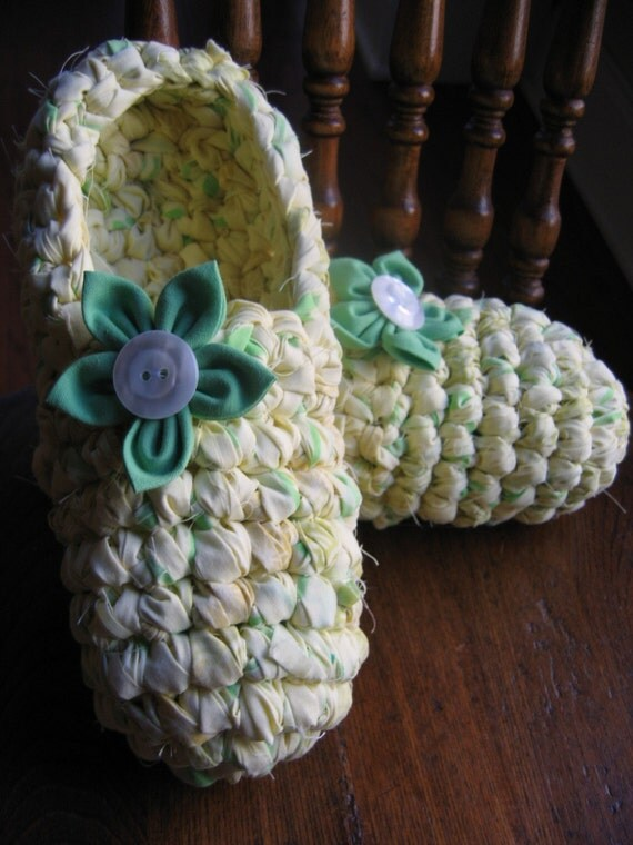Rag Crochet Slipper Pattern for Adults