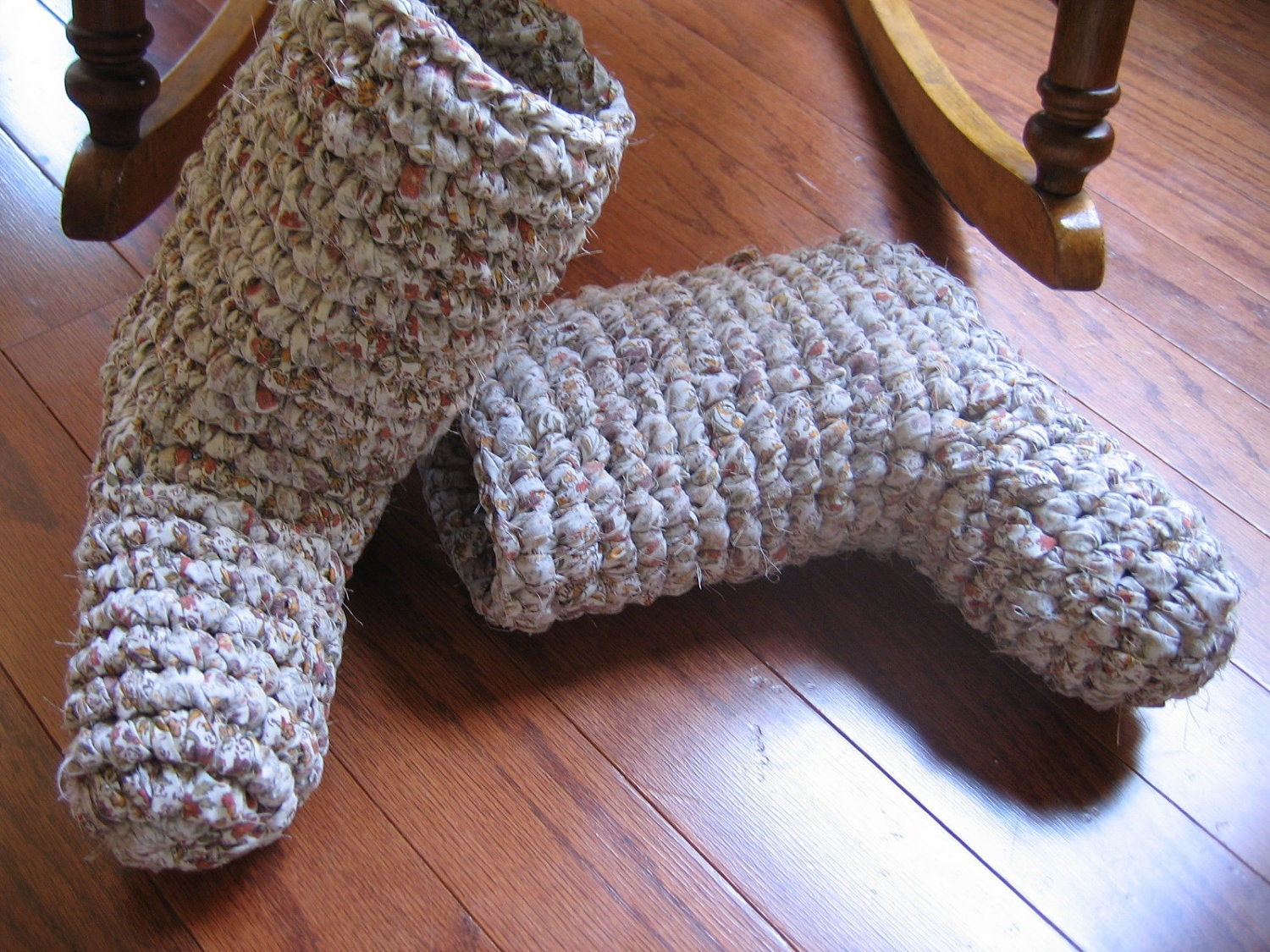 Free Crochet Patterns Booties For Adults : Rag Crochet Adult Boot Slipper Pattern