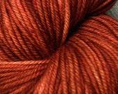 DK superwash yarn - Rust
