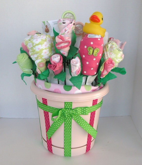New Baby Floral Gift Ideas : Items similar to custom baby gift for infant girl premium